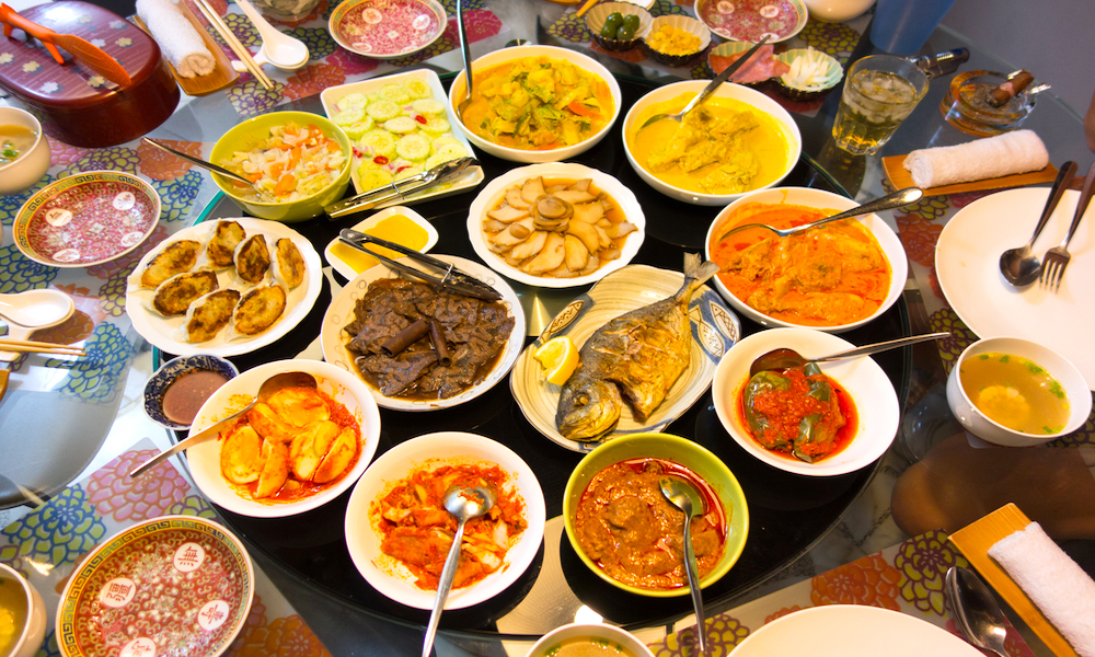 Feast of Malaysian food