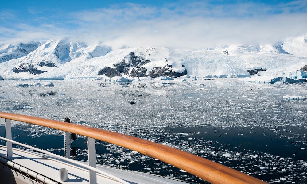 Cruise boat in Antarctica