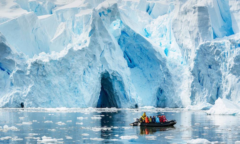 Tourist's in Antarctica