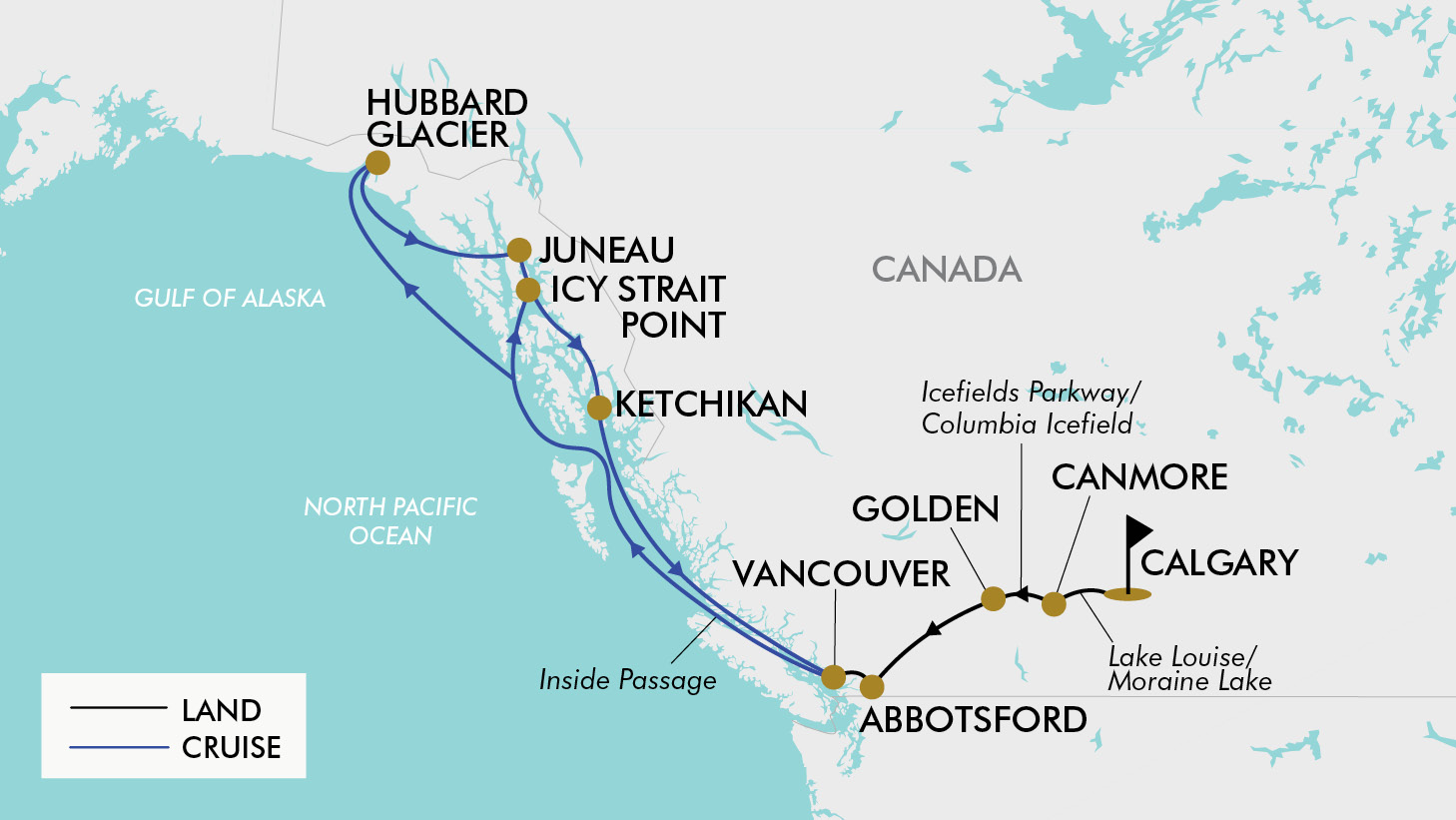 14 Day Alaska & Canada | TripADeal Map Of Alaska And Canada on richardson highway, top of the world highway, map of united states, map of australia, map of alaska coastline, map of canada with cities, driving the alaska highway canada, dawson city, fort nelson, map of ketchikan alaska, blank map of canada, prince george, map alaska and hawaii in the same, cruise inside passage canada, map of mountains of alaska, klondike gold rush, klondike highway, yukon river, map of cordova alaska, fort st. john, map of jasper national park canada, road map of canada, dempster highway, map of north america, street map vancouver bc canada, trans-alaska pipeline system, watson lake, delta junction, map of states bordering canada, map of hotels in toronto canada, map of alaska highway, dalton highway, pan-american highway, map of alaska subsistence, dawson creek, alaska cruise map canada,