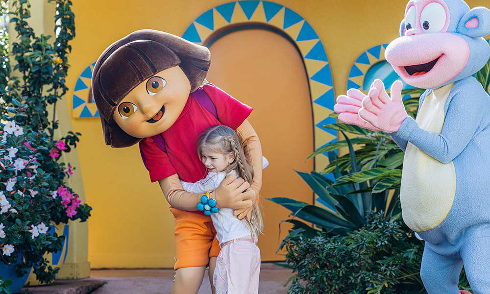 Dora the Explorer at Sea World