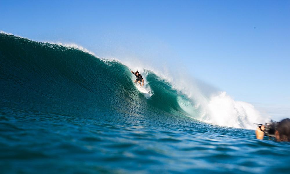Surfing at Broken Head