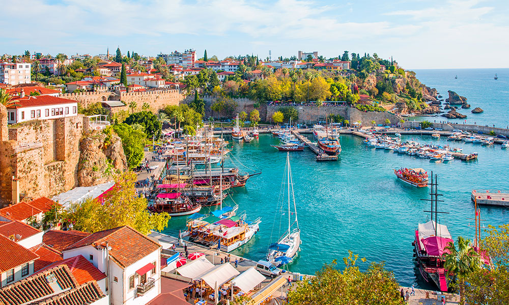 Antalya's Old City Marina, Turkey
