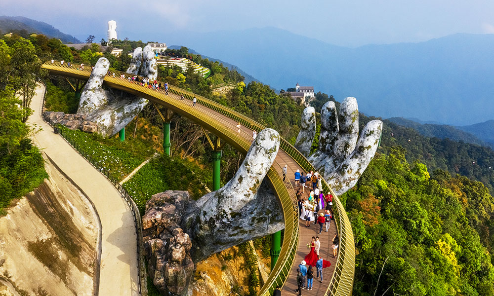 Golden Hands Bridge, Ba Na Hills, Vietnam
